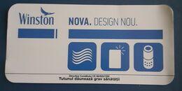 ROMANIA-,CIGARETTES CARD,USED - Raucherutensilien (ausser Tabak)