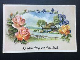 Vintage CPA - Goeden Dag Uit Borsbeek - Borsbeek