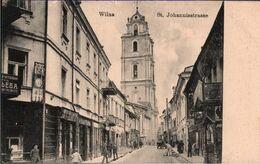 ! Alte Ansichtskarte Wilna, Vilnius, St. Johannisstraße, Litauen - Litouwen