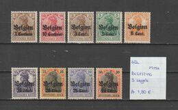 België Bezetting - 9 Zegels Postfris/neuf/MNH - [OC1/25] Gen.reg.