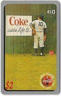 USA - Sprint - Coca Cola Score Board '95 - SBI-444 - Coca Cola Adv. #3, Remote Mem. 2$, 12.1995, 7.100ex, Mint - Sprint