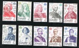 SPAGNA (SPAIN)  -  SG 2544.2553  - 1978 KINGS  & QUEENS (COMPLET SET OF 10)  - USED - 1931-Oggi: 2. Rep. - ... Juan Carlos I