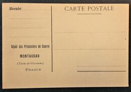 Carte De Franchise Militaire PRISONNIER DE GUERRE Allemand Au Dépôt De MONTAUBAN - Lettere In Franchigia Militare