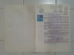 Acte De Vente 1984 Maison Neuvy En Dunois Sur Papier Timbré 12 F, 18f, Plusieurs Compléments Tarif Et 12 Timbres Fiscaux - Revenue Stamps