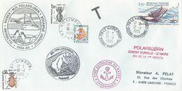 Lettre M/S POLARBJORN Avec France PA N°56 Laté 300 Et Taxe 100,105 Et 106 + Cachet Manuel Le Havre Port Du 17/04/1985 - Polar Ships & Icebreakers