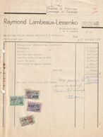 Beauraing - Raymond Lambeaux-Lessenko / Entreprise De Plafonnage, Carrelage Et Cimentage - Ambachten
