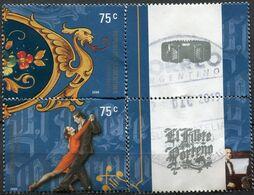 Argentine - 2000 - Yt 2214 Et 2216 - Le Tango - Oblitérés - Oblitérés