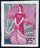France Non Dentelé N° 1216 25f  Vert-gris Et Rouge Marianne à La Nef Qualité:** - Frankrijk