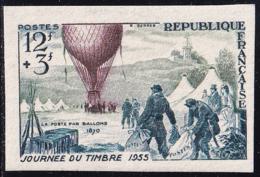 France Non Dentelé N° 1018 12f + 3f Journée Du Timbre 1955 Qualité:** - No Dentado
