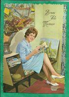 Bonne Fête Maman 2scans JC Belgique 1963 - 3 - Femme Posant Avec Tableaux Bretons - Moederdag