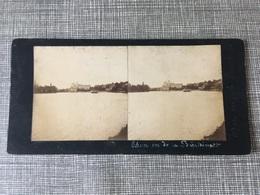 1890 1900 Ancienne Carte Stéréoscopique THUN Vu De La Bächimatt THOUNE Canton De Berne Suisse - BE Bern