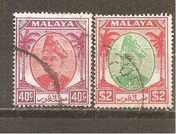 Malasia - Selangor. Nº Yvert  57, 60 (usado) (o) - Selangor