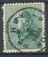 [12745]TB//O/Used-N° 167, 5c Vert, Obl Concours 'HUY' - 1919-1920  Cascos De Trinchera