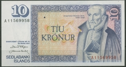 Island 10 Kronen 1961, Arngrimur Jonsson, KM 48 A, Kassenfrisch (K97) - Islanda