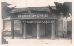 CARTE PHOTO ALLEMANDE HAUVINE 1916 THEATER Der 23. RESERVE DIVISION - Frankreich