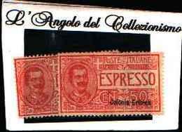 90179) ERITREA-Espressi Tipo Floreale-1907-50 C. -MLH*-LA VENDITA E RIFERITA A 1 SOLO FRANCOBOLLO - Eritrea