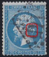 N°22 Variété Suarnet 3, Position 38F3, 3 Grosses Taches Blanches Bien Visibles, RR Et TB - 1862 Napoleon III