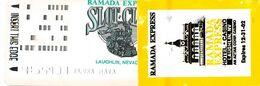 Ramada Express Casino - Laughlin, NV - Slot Club Card With Attached Sticker Exp 12-31-02 - Casinokarten