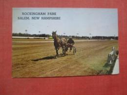 Trotter Horse Racing  Rockingham Park   Paper Residue On Back From Album  New Hampshire > Salem     Ref 4323 - Salem