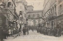 R9-40) MONT DE MARSAN (LANDES) FETES PRESIDENTIELLES DU 6 OCTOBRE 1913 - RUE DU CHATEAU VIEUX  - 2 SCANS) - Mont De Marsan
