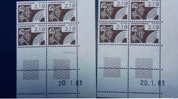 FRANCE 2 Coins Datés Marquage Differents Yt 180 Cote 12,0 - Angoli Datati