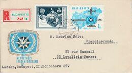 HONGRIE LETTRE FDC RECOMMANDEE DE BUDAPEST POUR LA FRANCE 1967 - Hungary