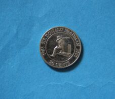 Australia 2001 Sir Donald Bradman 20c Cricket Memorabilia Twenty Cents Coin - 20 Cents