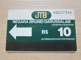 The First Issued Autelca Magnetic Phonecard,B$10 ,used,control Number: A022 - Brunei