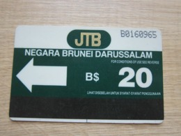 The First Issued Autelca Magnetic Phonecard,B$20 ,used,control Number: B016 - Brunei