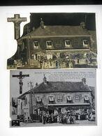 SACLAY A LA VIEILLE AUBERGE DU CHRIST  NEGATIF PLAQUE DE VERRE + CPA   Format 9. / 14. Cms - Places