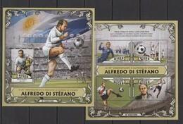 ST1828 2016 NIGER SPORT FOOTBALL 90TH ANNIVERSARY ALFREDO DI STEFANO KB+BL MNH - Other