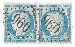 TIMBRES N° 60/1; N° 133/134 A2; PAIRE ;REMPLAÇANTS SUPERBES ; GC Châtillon-de Michaille (AIN);TTB - 1871-1875 Cérès