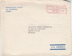 CUBA EMA DE LA HAVANE POUR LA FRANCE 1985 - Cartas