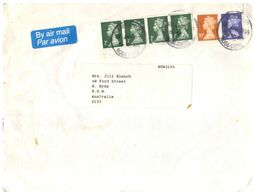 (K 31) UK To Australia (with Stamps) - 23x16 Cm - 1952-.... (Elizabeth II)
