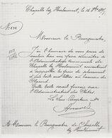 Chapelle Lez Herlaimont - Copie - Lettre16/10/1895  Du Sous Percepteur Au Bourgmestre Pour Le Placement D'une Boîte.... - Historische Dokumente