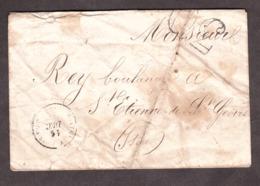 LSC - Décembre 1864 - De ? Pour St Etienne De St Geoirs - Port Dû Taxe 30 - Verso : Amb N + Cachet Route Paris - 1849-1876: Klassik