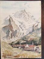 """CPM, Aquarelle De Daniel Lanoux, """"Paysage De Montagne, Village"""" Ref 73 DL 12, éd André - Grenoble 38, Non écrite - Pittura & Quadri"""