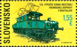 Slovakia - 2020 - 125th Anniversary Of Urban Public Transport In Bratislava - Mint Stamp - Slowakische Republik