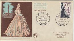 FDC FRANCE N° Yvert 941 (HAUTE COUTURE) Obl Sp 1er Jour - 1950-1959