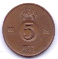 SVERIGE 1954: 5 Öre, KM 822 - Zweden