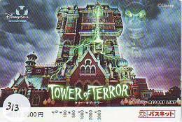 DISNEY Prepaidcard Japan (313) TOWER OF TERROR *   Prepaid Karte Japan * Carte Prepayee Japon - Disney
