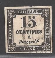 Frankreich Portomarke Michel Nummer 3 Gestempelt - 1859-1955 Gebraucht