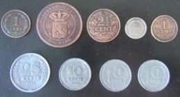 Pays-Bas / Nederland - 9 Monnaies Dont Une D'Inde Néerlandaise Entre 1 Cent 1896 Et 10 Cents 1943 - Pays-Bas