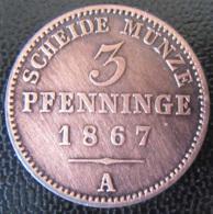 Allemagne / Prusse - Monnaie 3 Pfenninge 1867 A - Taler Et Doppeltaler