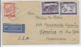 AUTRICHE - 1948 - ENVELOPPE Par AVION De INNSBRUCK => SYRACUSE (USA) - 1945-60 Brieven