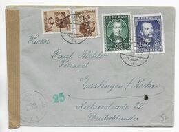 AUTRICHE - 1952 - ENVELOPPE Avec CENSURE De WIEN => ESSLINGEN (GERMANY) - 1945-60 Brieven