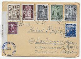 AUTRICHE - 1952 - ENVELOPPE Avec CENSURES ANGLAISE + US De GRAZ => ESSLINGEN (GERMANY) - 1945-60 Brieven
