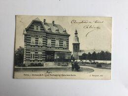 PERWEZ RESIDENCE DE M. LE JUGE WAERSEGGERS ET L' EGLISE SAINT-MARTIN   1903 - Perwez