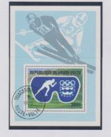 Upper Volta 1976 Olympic Games In Innsbruck Souvenir Sheet Used (M7) - Winter 1976: Innsbruck
