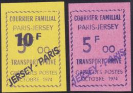 France Grève N° 17 A/17B 2 Valeurs Surchargées Jersey-Paris  ** - Huelga